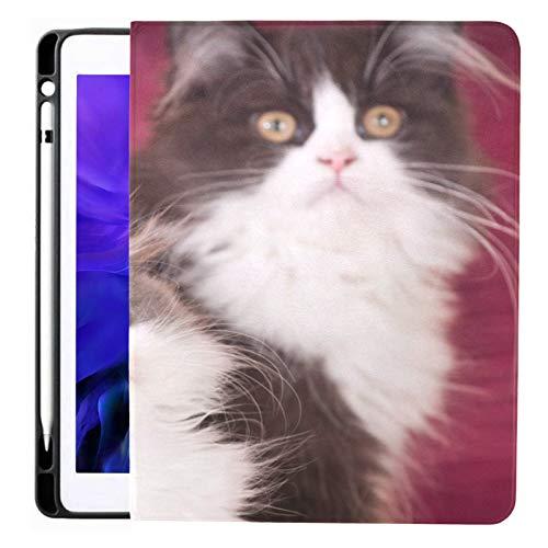 Funda para iPad Pro 12.9 2020 y 2018 con portalápices Funda para iPad con Aspecto Inteligente de Dos Gatos, admite Carga de lápiz de Segunda generación, Funda para iPad Pro 12.9 2020 con Reposo autom