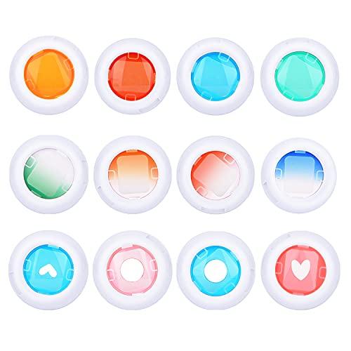 Sunmns Lot de 12 filtres colorés pour Appareil Photo Fujifilm Instax Mini 8/8+/9