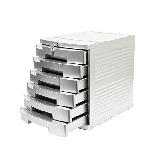 Archivadores de fichas Archivadores con 6 Capas de Datos de Almacenamiento de Escritorio cajón archivador gabinete Pecho de cajones de Documentos de Office y Home Storage Box