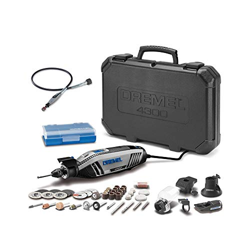 Dremel 4300-5/40 High Performance Rotary Tool Kit with LED Light- 5 Attachments & 40 Accessories Plus Dremel 225-01 Flex-Shaft (2 Items)