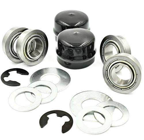 HD Switch Front Wheel Bushings to Bearings Conversion Kit with All Hardware Compatible with John Deere GY20047BLE GY20048BLE GY20047 GY20048 GY20616BLE GY20617BLE GY20616 GY20617