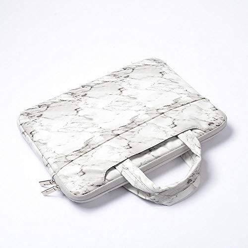 Makkelijk te dragenPU lederen laptoptas voor MacBook Air Pro Retina 11 12 13 15 Cover 11 6 12 13 3 14 15 4 15 6 inch marmeren hoes voor Macbook Case 13.3 inch Kleur: wit