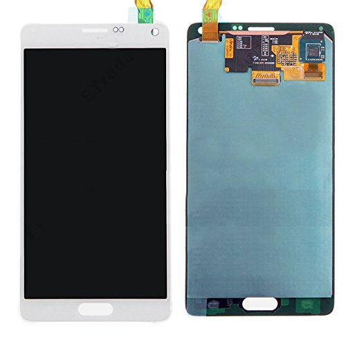 LCD display Touch Screen Digitizer Assembly Replacement for Samsung Galaxy Note 4 N910 N910S N910C N910A N910V N910P N910R N910T withTools (White)