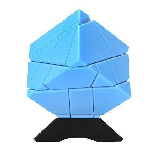 Ninja Ghost Cube 3x3 + Stickers Silver et Gold, Bleu