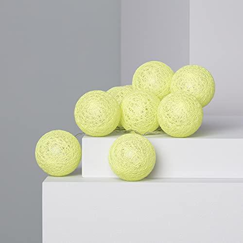 LEDKIA LIGHTING Guirlande LED 10 Boules Lemon 1.65m/2.85m Brancher