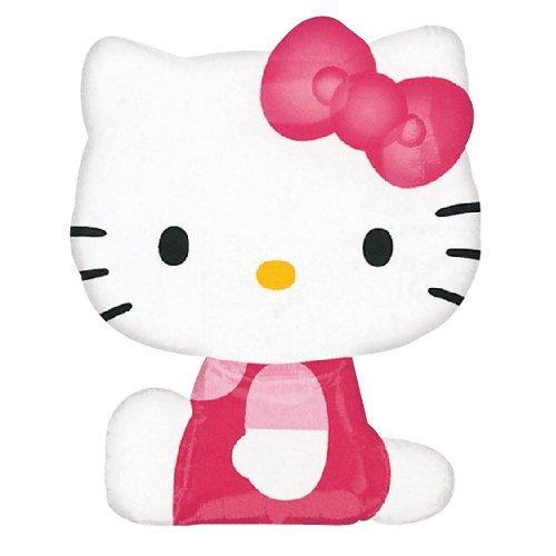 Anagram 2175363 - Party und Dekoration - Folienballon SuperShape - Hello Kitty, circa 56 x 69 cm
