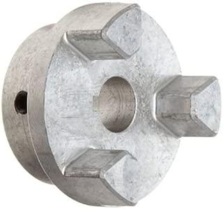 Lovejoy 17928 Size AL100 Jaw Coupling Hub, Aluminum, Inch, 1.25'' Bore, 2.53'' OD, 1.37'' Length Through Bore, 0.25'' x 0.125'' Keyway