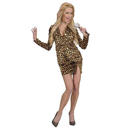 Widmann 7208W - Erwachsenenkostüm Pop Star im Leopardenlook, Größe XL