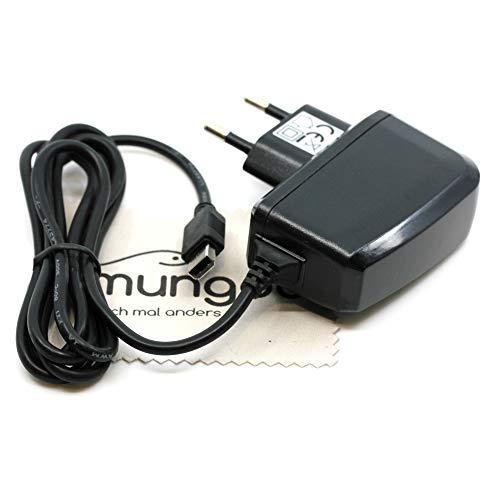 Ladegerät passend für Nintendo Wii U Gamepad Controller Ladekabel Kabel Netzladegerät OTB mit mungoo Displayputztuch