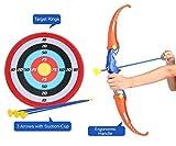 Amitasha Kids Archery Bow and Arrow Toy Set with Target Outdoor Garden Fun
