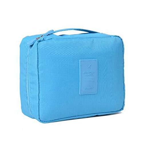 NOVAGO Trousse de Toilette Compact, Trousse Maquillage, Trousse de Voyage (Bleu Ciel)