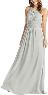 JONLYC Women's A-Line Chiffon Long Bridesmaid Dresses Prom Evening Gowns