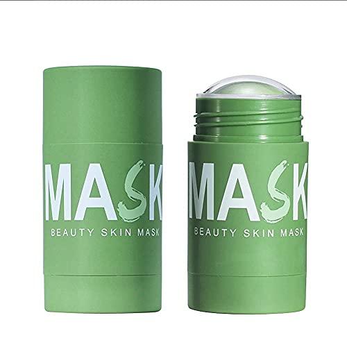 KHYQKJ 2 Piezas VC/máscara sólida de carbón de bambú, máscara de Barra de té Verde, Arcilla purificadora, máscara sólida limpiadora, removedor de acné, removedor de espinillas
