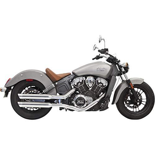 Auspuff-Set für Endschalldämpfer Chrom 3 Zoll Muffler Classic Slip-On x Moto Indian Scout ab 2015 bis 2018, Scout Bobber 2018, Scout Sixty ab 2016 bis 2018