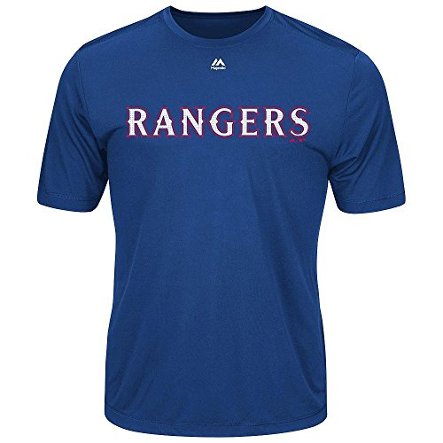 Texas Rangers Adult Large Wicking MLB Licensed Authentic, Royal Blue, Size Large