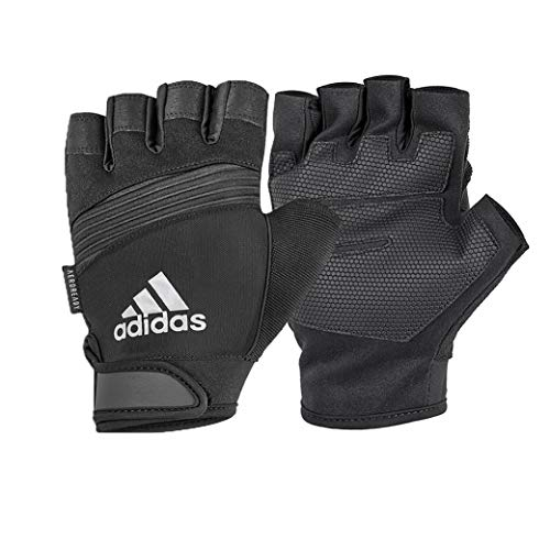 adidas Mixte Adulte Performance Gants d'entraînement, Grau, Medium (Palme 19-20 cm)