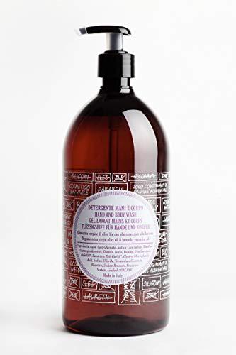 Herbst Angebot ricaricando 1 Liter Refill extra milde Bio Olivenöl Flüssigseife mit Lavendelduft, für empfindliche Haut, zertifizierte Naturkosmetik, vegan