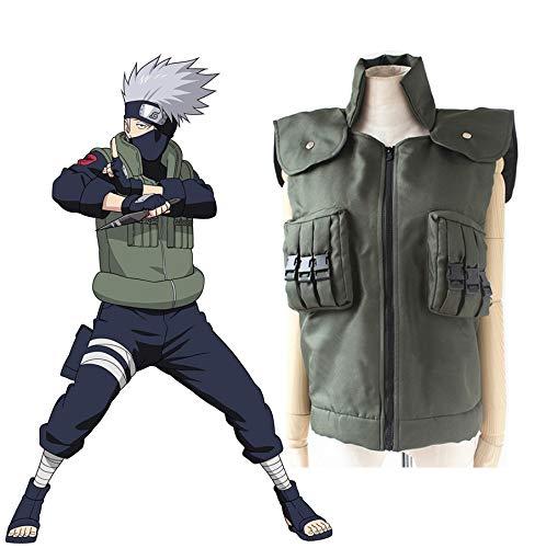Anime Naruto Shippuden Hatake Kakashi Ninja Chaleco Cosplay Disfraz Halloween Disfraces Talla S-XXL
