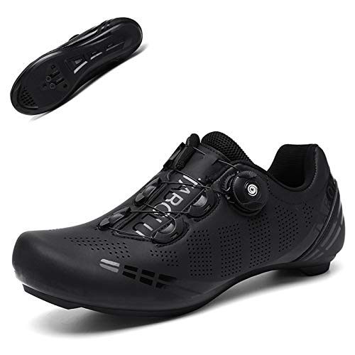 Men's Road Bike Cycling Shoes Riding Shoes Peloton Cycling Shoes Compatible with Cleat SPD Indoor Cycling Shoes Mountain Bike Shoes Black