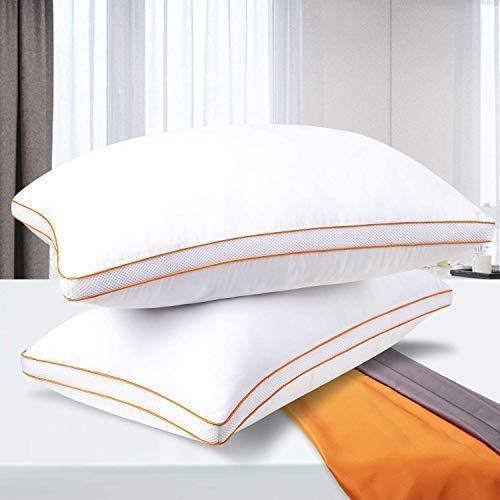 Maxzzz Cuscini letto set di 2, Guanciale letto per dormire in coppia, contro dolore alle spalla e al collo,per dormienti laterali, con design...