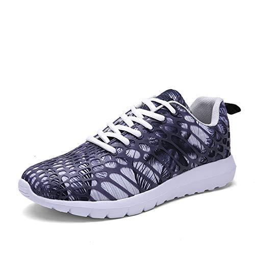 Entrenadores de Zapatillas de Deporte para Hombres, Zapatos Deportivos al Aire Libre Camuflaje de Malla Zapatos atléticos Casual Comodidad Gimnasio Jogging Caminando Corriendo,Gris,43