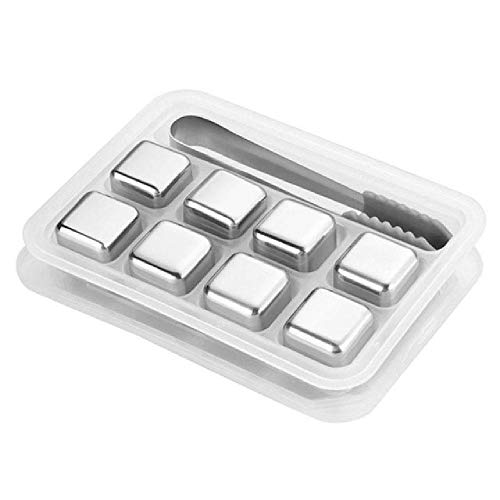 IOUI Reusable Bar Whiskey Cooler Stainless Steel Ice Cubes Whiskey Wine Cooling Beer Drinks Cooler Ice Kitchen Gadgets