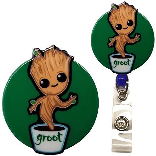 Guardians of The Galaxy Groot Inspired Symbol Decorative ID Badge Holder (Swivel Alligator)