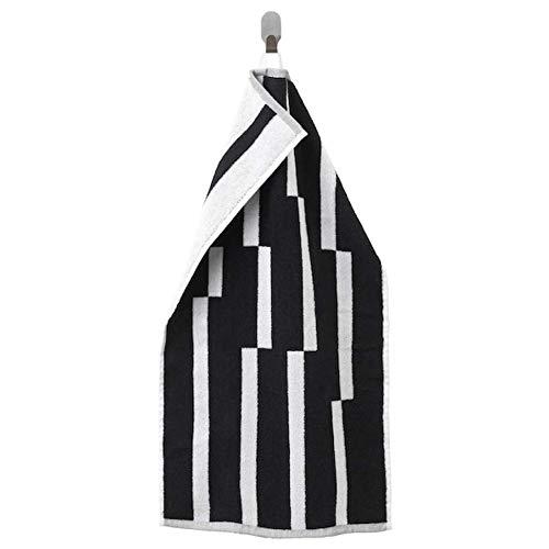 Ikea Kinnen Handtuch schwarz weiß 16x28 404.393.29