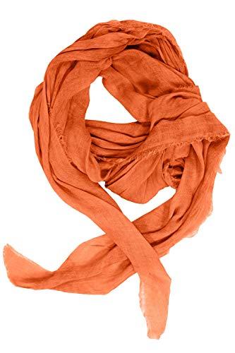 GINA LAURA Damen Schal, weich fließend, schräge Enden aprikose 1Size 723649 65-1
