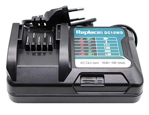 Cargador de batería DC10WD DC10SB DC10WA 197339-1 para Makita Tool DF031D DF0331D TD110D JR103D JR105D HSS01D HP332D (10,8 V, 12 V)