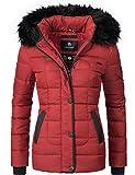 Marikoo Unique Veste d'hiver matelassée pour Dame Rouge L
