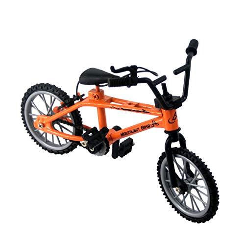 MeterBew1147 Mini-Finger-BMX Set Appassionati di Bici Giocattolo Dito in Lega BMX Funzionale Modello di Bicicletta per Bambini Finger Bike Eccellente qualità BMX Giocattoli Regalo - Arancione