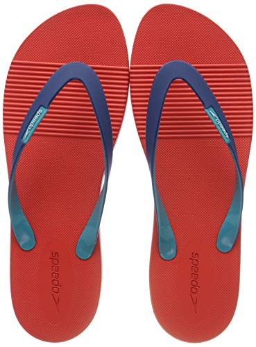 Speedo Herren Saturate II Thong Zehentrenner, Rot (Lava-Rot/Fast-Blue/Emaille B953), 46 EU