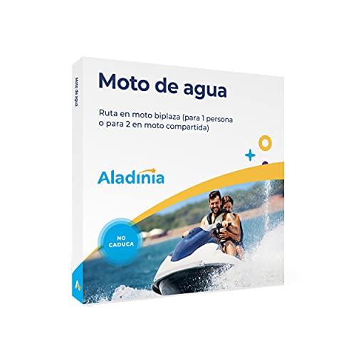 ALADINIA Moto de Agua. Cofre de Experiencias para Regalar. Pack Aventura de Ruta en Moto acuática biplaza. No Caduca, Cambios de Experiencia Gratis e Ilimitados
