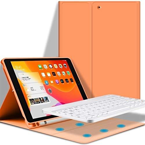JINXIUS Case, PU Lather Keyboard Case for iPad Mini 4/5 Case with Pencil Holder for iPad Mini 5th Generation 2019 / Mini 4th Gen 2015 (Color : Orange)