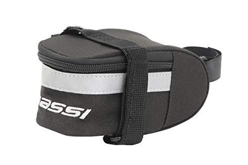 Massi Basic Negra Bolsa para sillin de Bicicleta, Deportes y Aire Libre, 140x70x65 mm