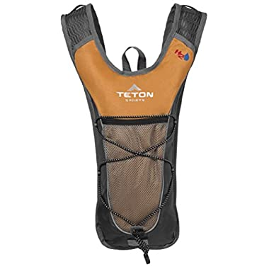 Teton Sports Trailrunner 2 Liter Hydration Backpack; Perfect for Trail Running, Cycling, Hiking, and Climbing; BPA Free; 2L Water Bladder Keeps You Cool When You're Outdoors; Orange