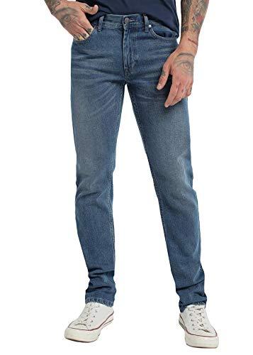 SIX VALVES - Pantalon Denim para Hombre - Confort   De algodón   Cierre con Cremallera   Tallaje en Pulgadas