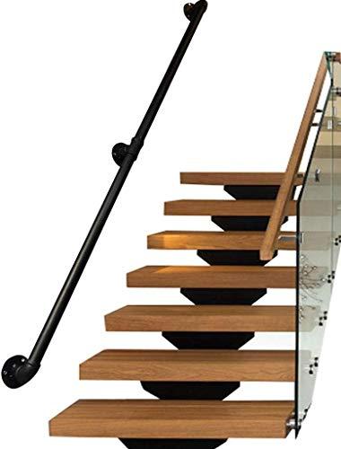 Alaeo Treppengeländer Wandhandlauf außen innen Außentreppe Vintage Handlauf Geländer Kit Balkon Brüstungsstange für ältere Menschen oder Kinder-180cm