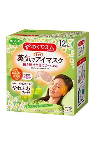 KAO MegRhythm Health Care Steam Warm Eye Mask Made in Japan Chamomile 12 Sheets