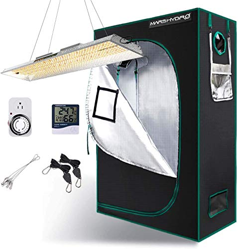 MARS HYDRO TSL 2000W Full Spectrum LED Grow Light with 3x3FT Grow Tent, Indoor LED Grow Kits