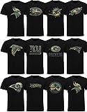 New Era NFL T-Shirt Saison 2019 2020 Offiziel Football Herren Damen Team Logo Shirt schwarz Camouflage -