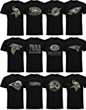 New Era New England Patriots T Shirt Camo Logo Tee Black - XL