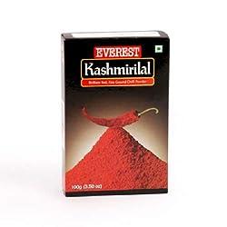 Everest Powder, Kashmirilal Brilliant Red Chilli Powder,100g Carton