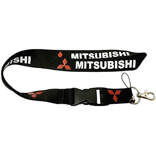 "Japan JDM MTI Black Car Accessory Fabric Lanyard Neck Strap Detachable Clip Black Stripe Wide 1"" for Car Key ID Card Mobile Phone Badge Holder"