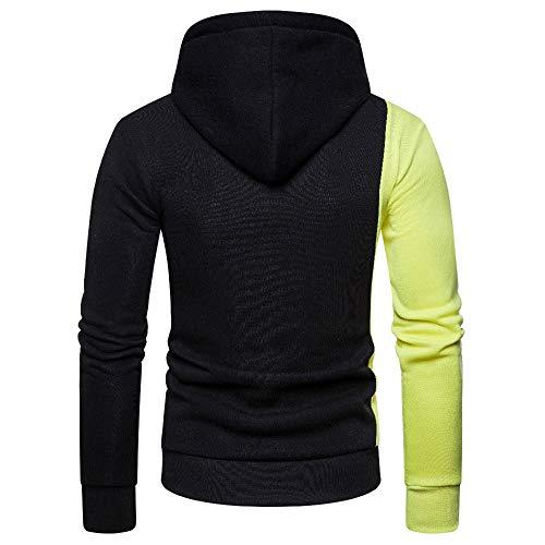 PRJN Men's Pullover Hoodies Hooded Sweatshirt Patchwork Top Casual Hoody Mens Long SleevePullover Hoodies Men's Sweatshirt Long Sleeve Hooded Men's Hoodie Sweatshirt Sweater Pullover Hooded Sweatshir