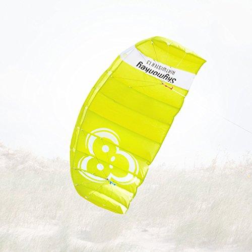 Skymonkey Airtwister 1.3 Lenkmatte mit Flugschlaufen Ready 2 Fly- 130 cm [grün-gelb]
