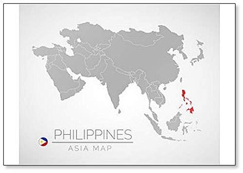 Kühlschrankmagnet, Karte der Philippinen, Asien