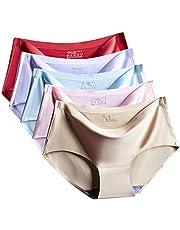 سراويل داخلية نسائية بدون خياطة ملابس داخلية للنساء (5 قطع)
