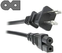 HQRP AC Power Cord for Brother ES2400 ES2410 ES2420 EX-660 HS1000 PC2300 PC2500 PC3000 PC6000 XR9000 HS3000 SQ9000 Sewing Machine Mains Cable + HQRP Coaster